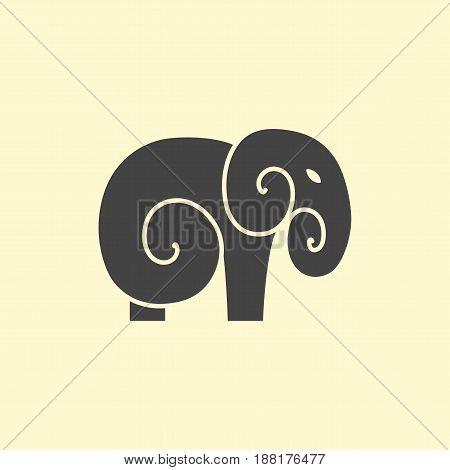 Vector Elephant logo design. Line art elephant logotype