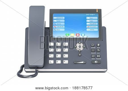 IP Phone 3D rendering isolated on white background
