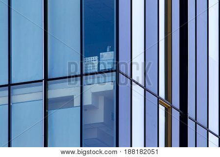 Mirror windows of a building as a background .