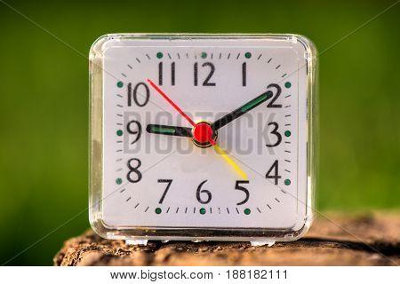 Close up alarm clock, Outdoor clocks, Follow the time line