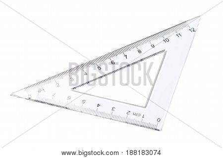 Set of rulers on white background isolation