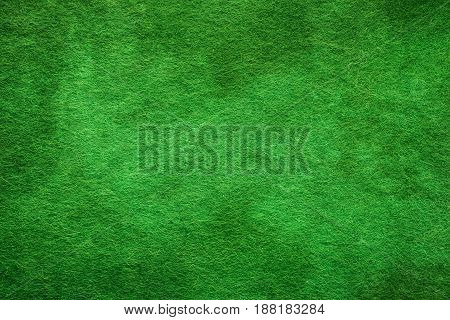 Green felt surface. Abstract texture and background