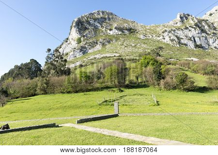Mountainous Area In Sonabia Province Of Cantabria
