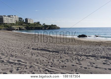 The Beach Of Castro Urdiales In Cantabria