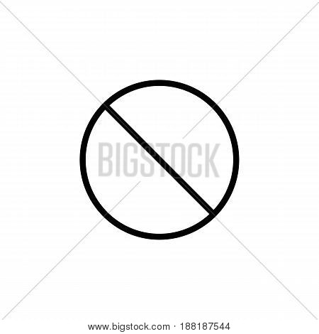 Do not entry line icon, prohibition sign, forbidden not allowed, vector graphics, a linear pattern on a white background, eps 10.
