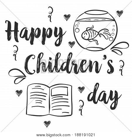 Design children day hand draw style vector illustration