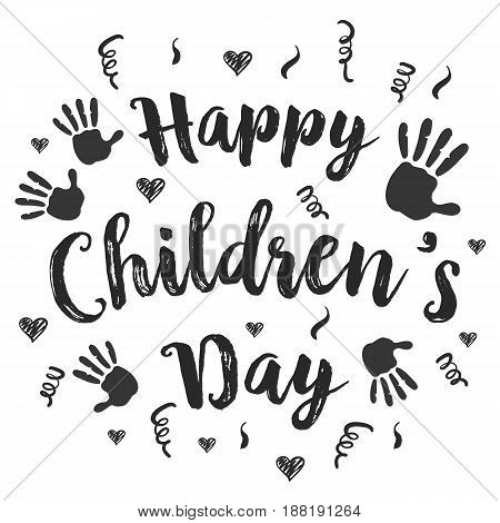 Children day hand draw style vector art collection