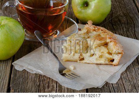 Piece Of Homemade Apple Pie, Sponge Cake