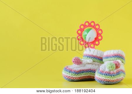 Baby Clothes With Rattle In Pastel Color Range