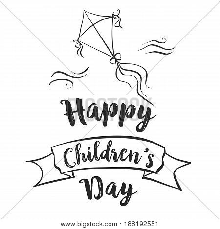 Vector illustration childrens day doodles collection stock