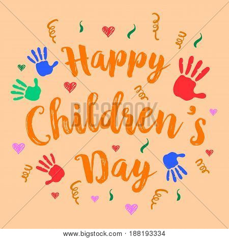 Happy childrens day celebration style vector illustration