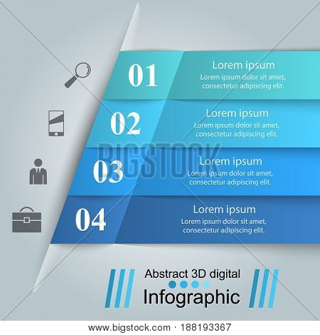 Infographic design template and marketing icons. Marketing info.