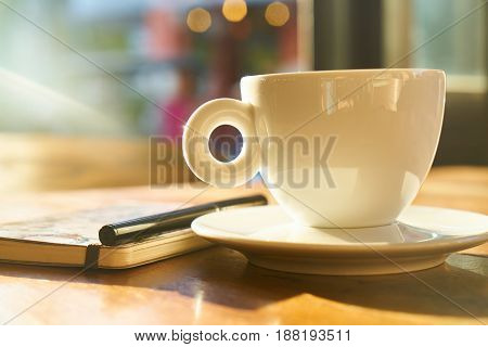 Study or Working Time with Morning Coffee