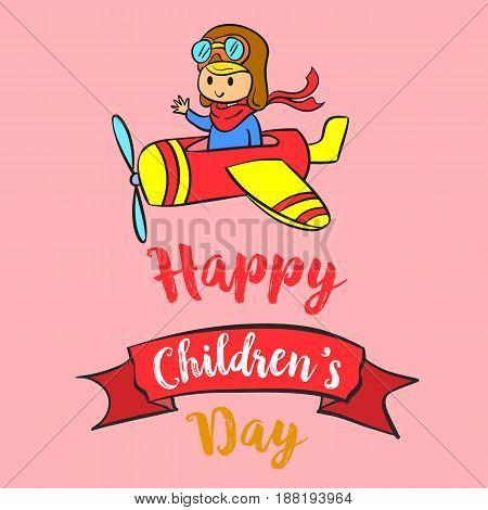 Childrens day celebration design collection vector illustration