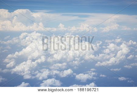 Beautiful Blue Sky With White Cloud stock photo