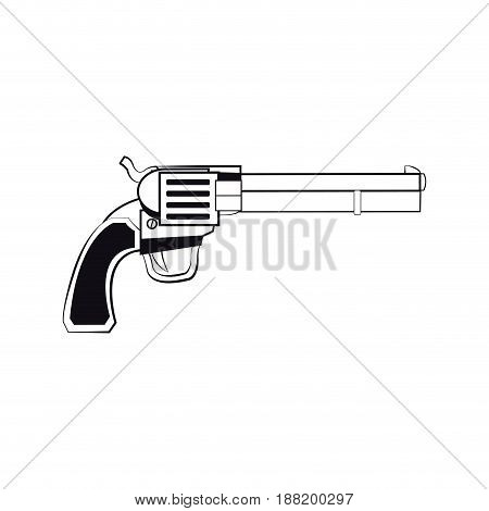 gun pistol, bullets ornate detailed tattoo design element. vector illustration