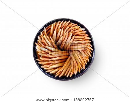 Toothpick On the dining table on white background