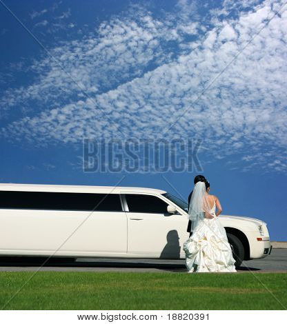 Wedding and limousine