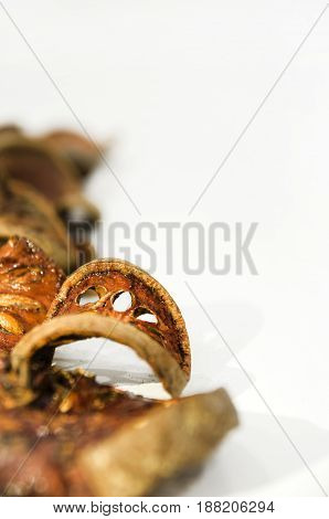 Dried slice of beal fruit used for healthy beal tea
