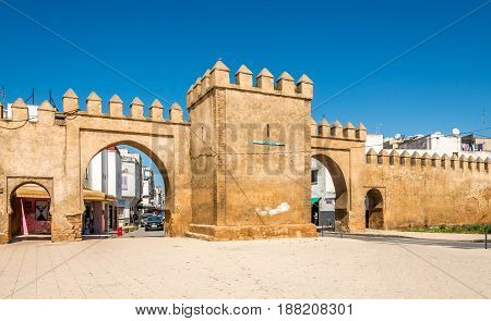SALE,MOROCCO - APRIL 82017 - View at the Gate to Sale Town. Sale is a city in north-western Morocco on the right bank of the Bou Regreg river opposite the national capital Rabat.