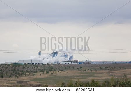 Views of the industrial plant near pine grove