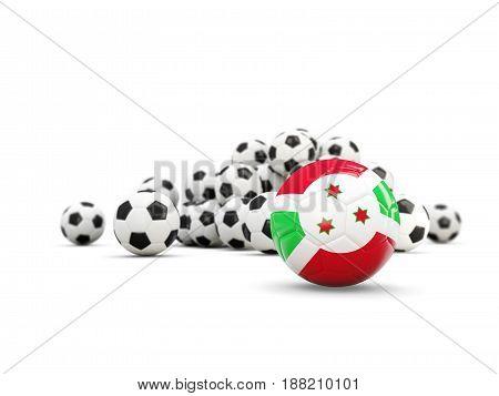 Football With Flag Of Burundi Isolated On White