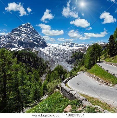 Summer Sunshiny Stelvio Pass (italy)