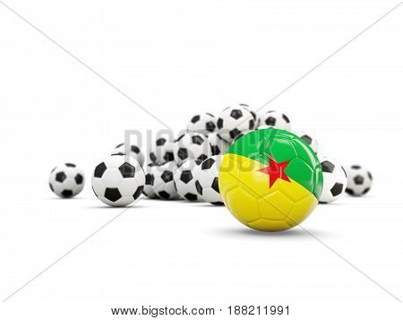 Football With Flag Of French Guiana Isolated On White