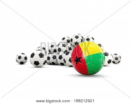 Football With Flag Of Guinea Bissau Isolated On White