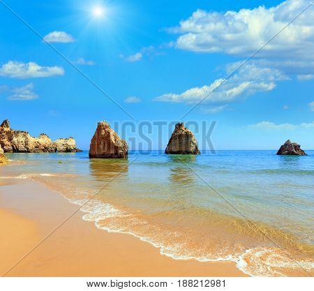 Algarve Sunshiny Beach Dos Tres Irmaos (portugal)