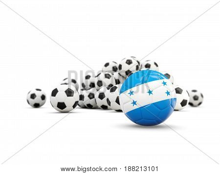 Football With Flag Of Honduras Isolated On White