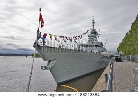 Hmcs Montréal In The Old Port Of Montreal