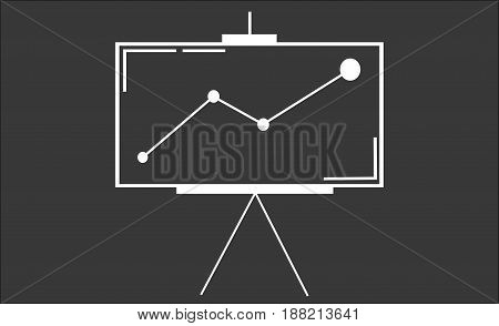 School bussines interactive whiteboard or IWB with remote control isolated on a white background. Clipping path provided for both the board and screen.