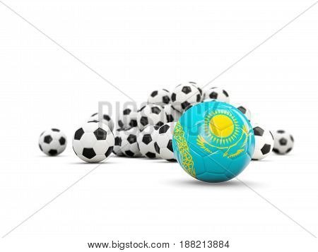 Football With Flag Of Kazakhstan Isolated On White