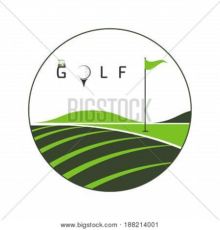 logo golf club golf championship golf tournament on white background illustration
