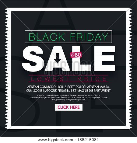 Black friday Sale banner. Social media sale templates and ads web banner.