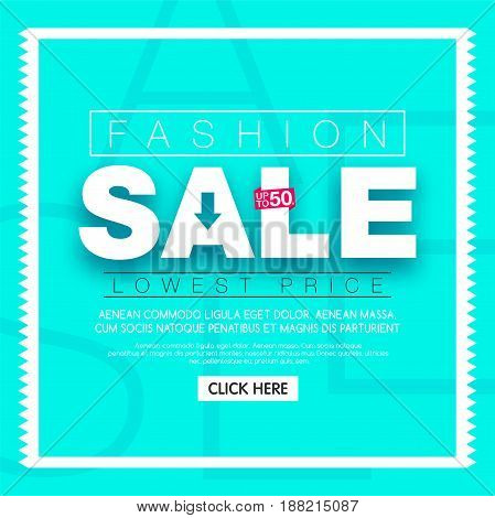 Fashion Sale banner. Social media sale templates and ads web banner.