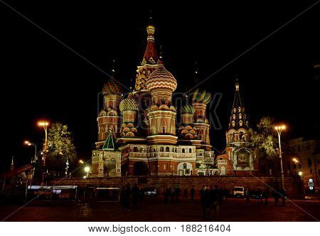 The majestic temple located on the main square of the capital city is the main tourist destination of the Russian metropolis