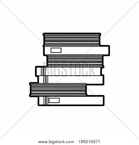 school pile books study education image vector illustration