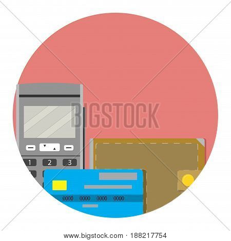 Electronic money icon. Digital money and electronic transfer vector illustration
