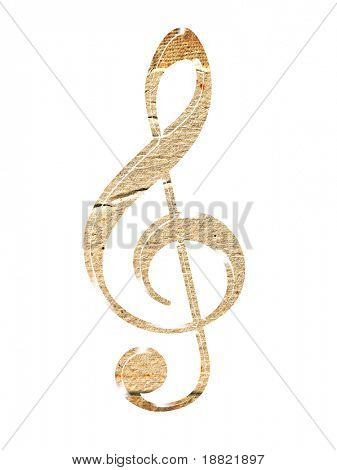 Grungy musical key