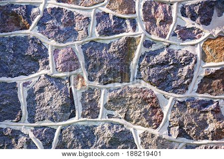Old Gray Stone Wall Rustic Texture Background.