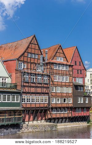 Half-timbered Houses At The Old Harbor Of Luneburg