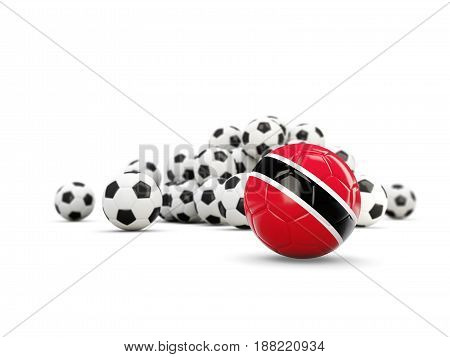 Football With Flag Of Trinidad And Tobago Isolated On White