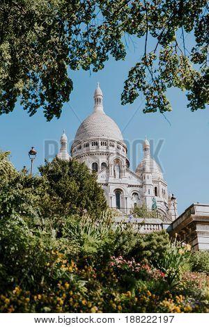 Sacred Heart church on Montmartre hill, Paris