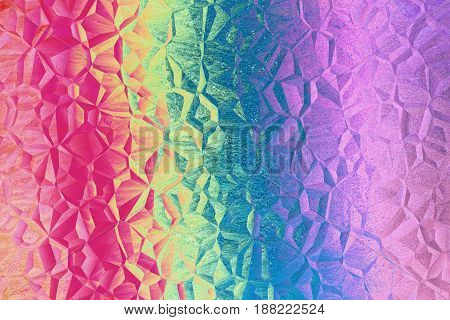 Multicolored rainbow and mosaic pattern as abstract background.Digitally generated image.