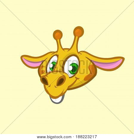 Cartoon giraffe. Vector. Illustration of giraffe head icon