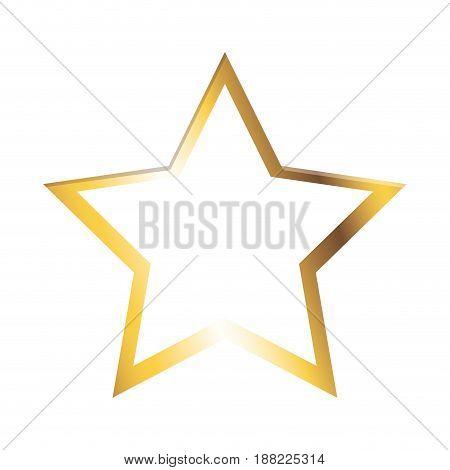 golden star shiny christmas decoration image vector illustration