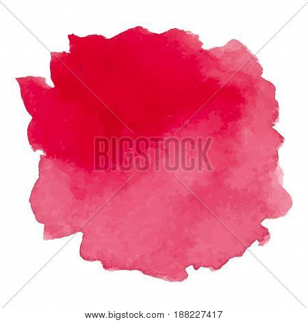 Round watercolor stains on white background, with overflow gradients of red and dark red. Smears of paints