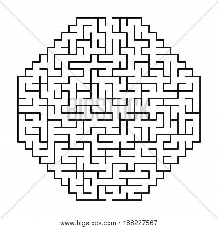 Abstract maze / labyrinth with entry and exit. Vector labyrinth 146.